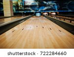Close Up Of Alley At Bowling...
