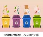 recycle garbage bins. waste...   Shutterstock .eps vector #722284948