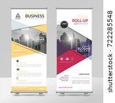 business roll up design... | Shutterstock .eps vector #722285548