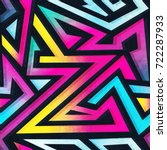 psychedelic color geometric... | Shutterstock .eps vector #722287933