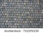 cobble stone road grey lines...   Shutterstock . vector #722293150