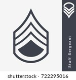 military ranks and insignia.... | Shutterstock .eps vector #722295016