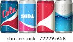 different can designs for soda... | Shutterstock .eps vector #722295658