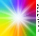 Rainbow Background With Bright...
