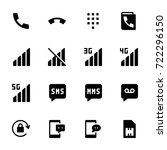 icon set of mobile | Shutterstock .eps vector #722296150