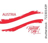austria happy national day ... | Shutterstock .eps vector #722301439