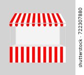 template shopping stand with... | Shutterstock .eps vector #722307880