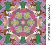 colour spring theme seamless... | Shutterstock .eps vector #722308210