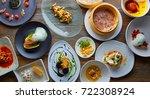 molecular gastronomy variety of ... | Shutterstock . vector #722308924