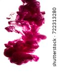 purple ink in water isolated on ... | Shutterstock . vector #722313280