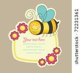 Cheerful Bee. Vector...