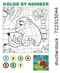 color by number   educational... | Shutterstock .eps vector #722315044