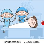 surgeon completing operation... | Shutterstock .eps vector #722316388