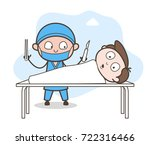 scared patient in operation... | Shutterstock .eps vector #722316466