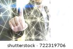 world connected. abstract... | Shutterstock . vector #722319706