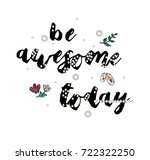 flowers embroidery patch  with...   Shutterstock .eps vector #722322250