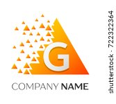 realistic letter g logo symbol... | Shutterstock . vector #722322364