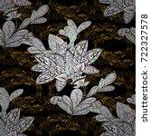 royal retro background. floral...   Shutterstock .eps vector #722327578