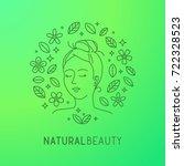 natural beauty icon. vegan ... | Shutterstock .eps vector #722328523