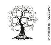 family tree. apple tree... | Shutterstock . vector #722328934
