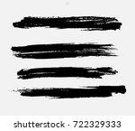 grunge paint stripe . vector... | Shutterstock .eps vector #722329333