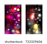 two mobile wallpapers. abstract ... | Shutterstock .eps vector #722329606