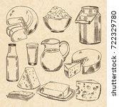 vintage hand drawn... | Shutterstock .eps vector #722329780