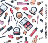 makeup seamless pattern.... | Shutterstock .eps vector #722329810