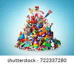 huge pile of different and... | Shutterstock . vector #722337280