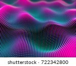 big data abstract visualization ... | Shutterstock .eps vector #722342800