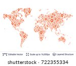 world map silhouettes.... | Shutterstock .eps vector #722355334