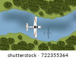 training aircraft flying over... | Shutterstock .eps vector #722355364