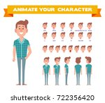 front  side  back  3 4 view... | Shutterstock .eps vector #722356420