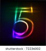 neon numbers | Shutterstock .eps vector #72236002