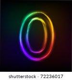 neon numbers | Shutterstock .eps vector #72236017
