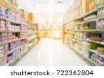 supermarket in blurry for... | Shutterstock . vector #722362804