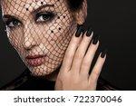 fashion beautiful woman with... | Shutterstock . vector #722370046