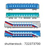 flat  retro and classic railway ... | Shutterstock . vector #722373700