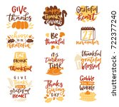 thanksgiving decoration... | Shutterstock .eps vector #722377240