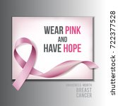 breast cancer awareness concept ... | Shutterstock .eps vector #722377528