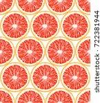 seamless pattern of grapefruit. ...   Shutterstock .eps vector #722381944