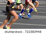 marathon running race | Shutterstock . vector #722383948