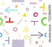 trendy geometric elements... | Shutterstock .eps vector #722386090