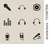 set of 9 editable music icons....