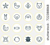 zoology icons set collection