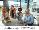 smiling business women working...   Shutterstock . vector #722395663