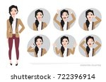 set of emotions for business... | Shutterstock .eps vector #722396914