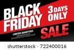 black friday sale banner layout | Shutterstock .eps vector #722400016