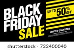 black friday sale banner layout | Shutterstock .eps vector #722400040