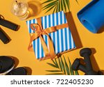 image of fitness equipment and...   Shutterstock . vector #722405230